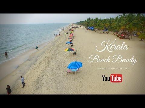 Alappuzha Mararikkulam Beach aireal view, Helicam View  4k Ultra HD    Natural Beauty of Kerala