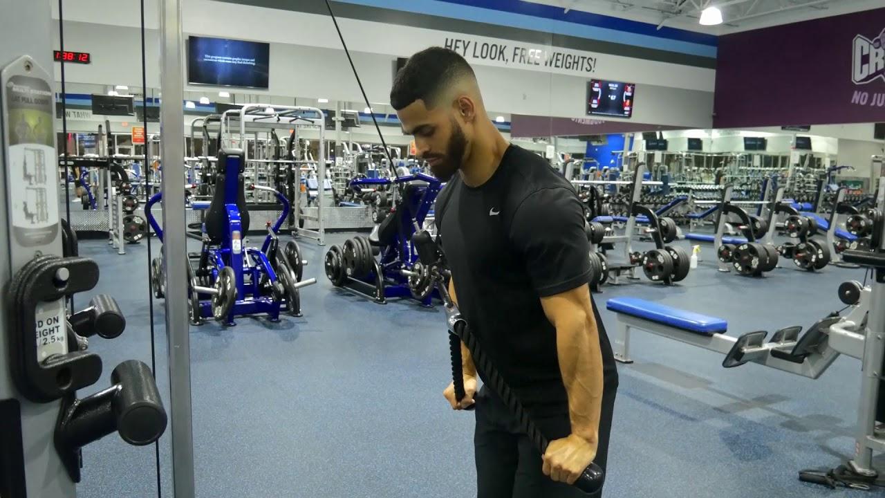 Rope Tricep Extension - YouTube