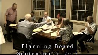 3148 1 Planning Board Meeting 9 27 17