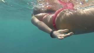 GoPro 3: swimming through bubbles at Blue Hole, Belize
