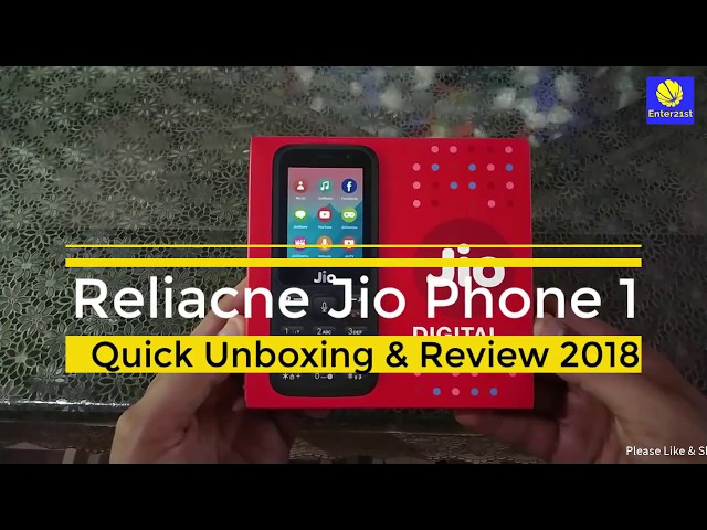 Jio Phone 1 Quick Unboxing & Review 2018