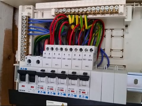 single phase distribution board wiring diagram explanation in urdu & hindi electrical distribution panel wiring diagram diagram of electrical distribution panel wiring #1