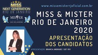 APRESENTAÇÃO DOS CANDIDATOS | MISS E MISTER RIO DE JANEIRO 2020 | 18/10/2020