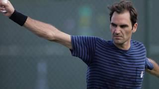 Roger Federer at the 2019 BNP Paribas Open