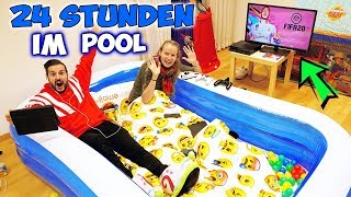 24 STUNDEN IM POOL Challenge! Kaan + Kathi verbringen 1 Tag im Pool!