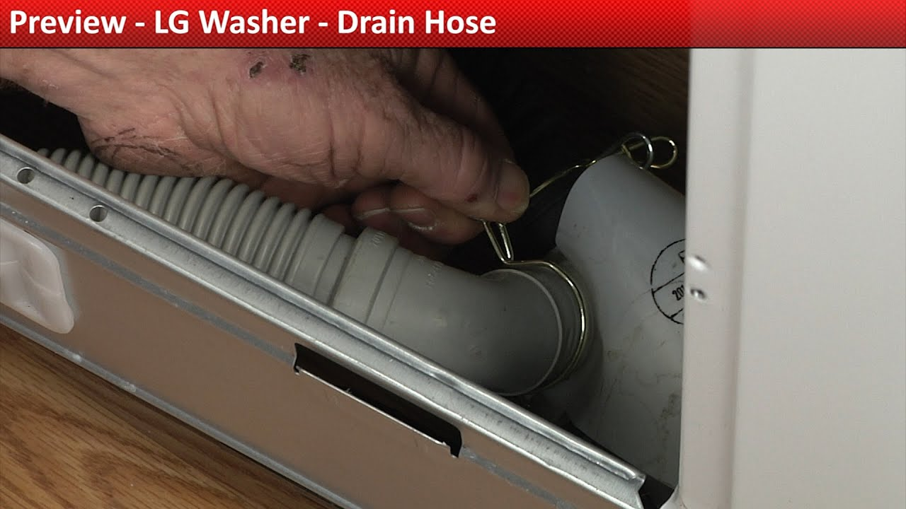 LG washer drain Hose replacement - YouTube