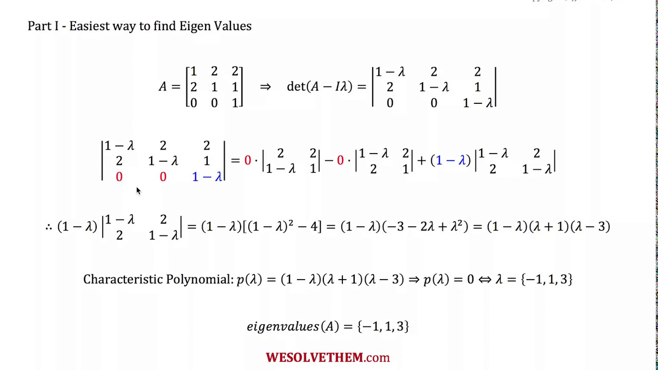 Download How to find eigenvalues quick and easy  - Linear algebra explained right