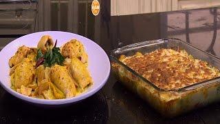 دجاج بالبسطرمة والجبنة - بطاطس بالكريمة - لحم بتلو بالمشروم   الشيف حلقة كاملة