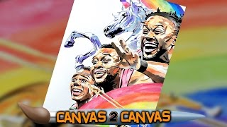 The Power of Positivity gallops onto the canvas: WWE Canvas 2 Canvas