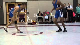 2013 McMaster Invitational FS 54 kg Chris Waltner (Lakehead) vs John Babulla
