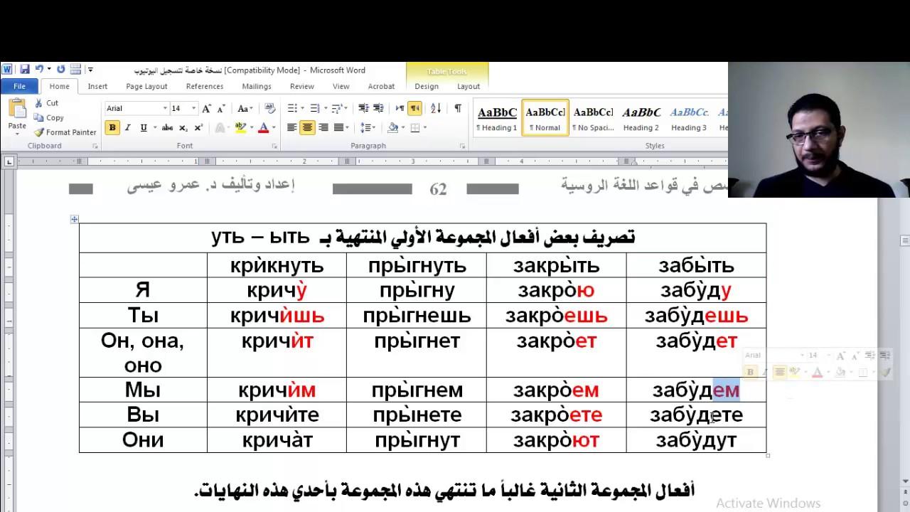 كتاب قواعد اللغة الروسية pdf