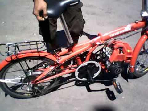 Sepeda Lipat Modif Mesin 4tak Run 3gp Youtube
