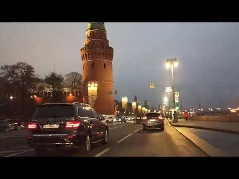. Москва от Арбата до Таганки. Поездка на автомобиле. 29 ноября 2019 г.