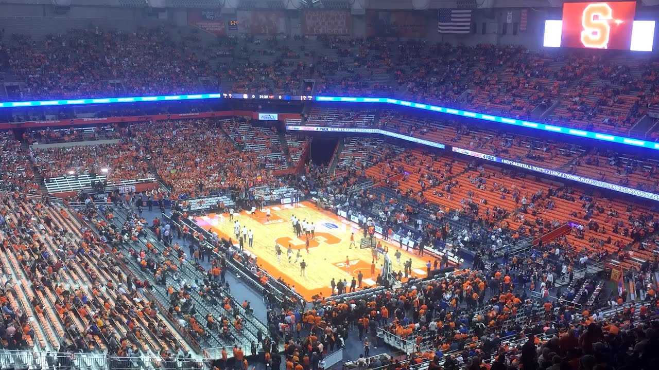 Syracuse Vs Duke Watch 30 331 People Fill Up Carrier Dome