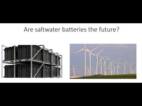 Saltwater Batteries Are The Future In Power Storage?