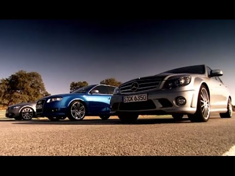 Drag Race: BMW Vs Mercedes Vs Audi (HQ) | Top Gear | Series 10 | BBC