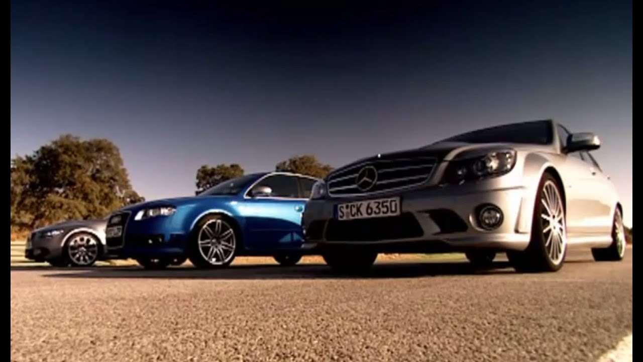 Drag Race: BMW vs Mercedes Vs Audi (HQ) | Top Gear | Series 10 | BBC ...