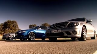 Drag Race: BMW vs Mercedes Vs Audi (HQ) - Top Gear - Series 10 - BBC