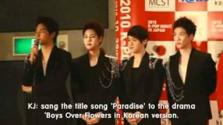 [ENG-SUB]2010.10.29 T-MAX KPOP NIGHT JAPAN INTERVIEW