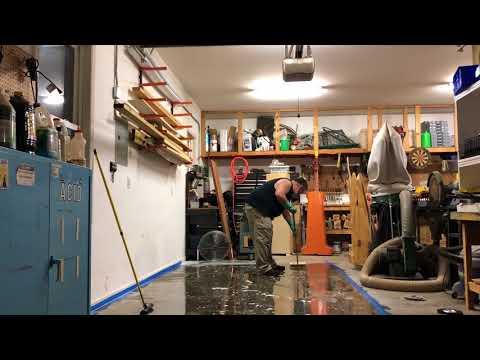 Concrete surface preparation for epoxy floor application
