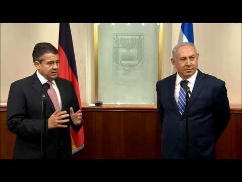 PM Netanyahu Meets German FM Sigmar Gabriel