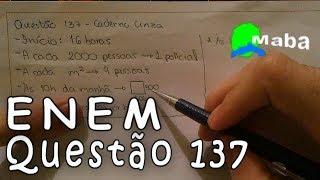 ENEM - Matemática - Questão - 137 - Caderno cinza -2016