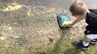 Rc hovercraft in water and lake