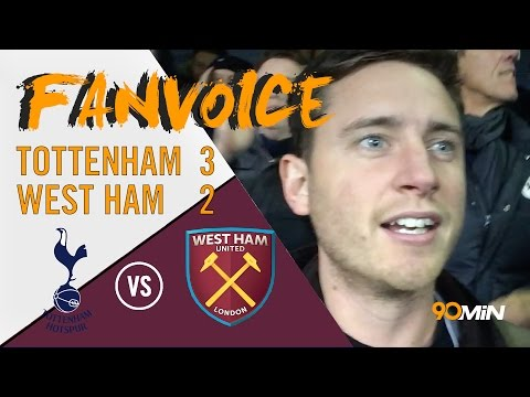 Crazy Scenes Tottenham beat West Ham 3-2 | Kane goal gives Spurs win v West Ham | 90min FanVoice