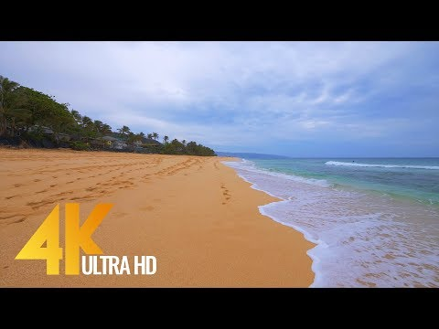 4K Virtual Walk Along Sunset Beach, Oahu, Hawaii - 2 Hours Video