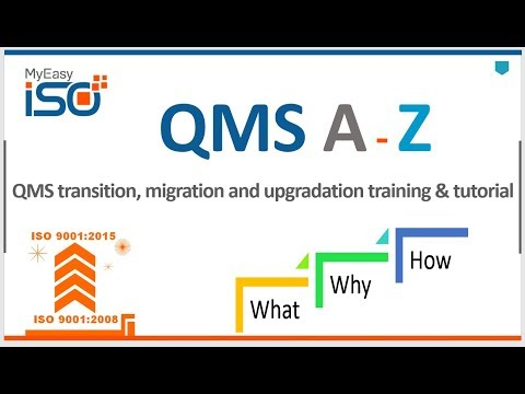 A to Z of ISO 9001-2008 to ISO 9001-2015 QMS transition and migration training video tutorial