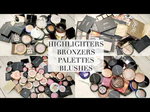 DECLUTTER SERIES | HIGHLIGHTERS, BLUSHES, BRONZERS & PALETTES
