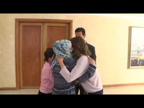 Syrian Civilians that were held captive for over 2 years meet with Pres Assad & Asma