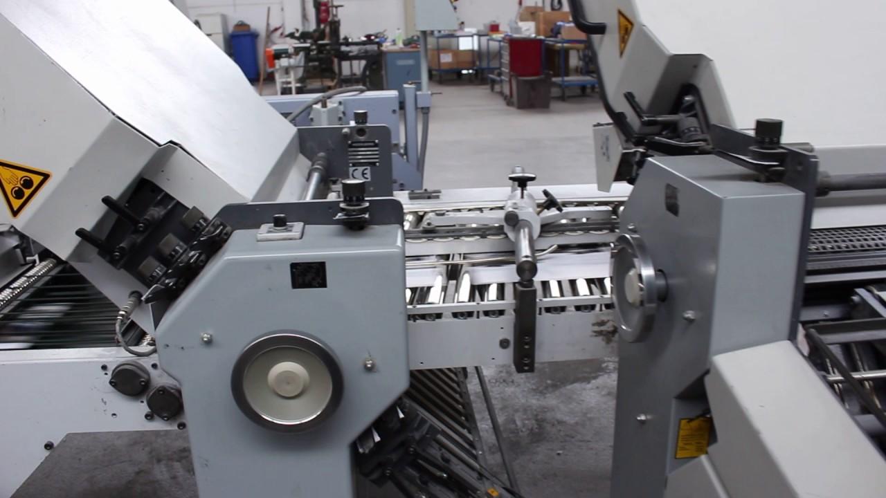 folding machine heidelberg stahlfolder ti 55 4 4 vfz 52 d youtube rh youtube com