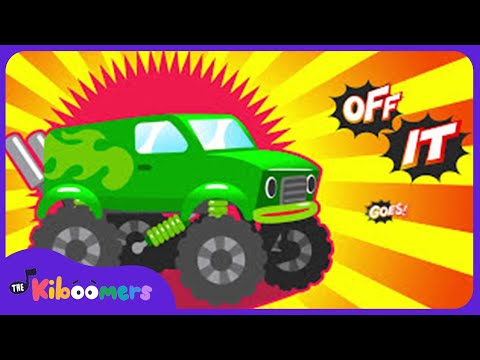 Monster Truck Song for Kids | Colors song | Monster Trucks  | The Kiboomers