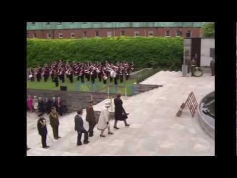 The Queen lays a wreath at the Garden of Remembrance