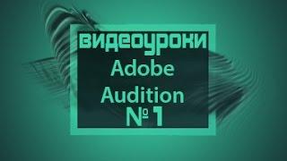 Adobe Audition 3.0. Видеоурок №1