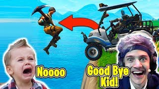 Kid Starts Crying After Ninja & Tfue Gets Him Killed... - Fortnite