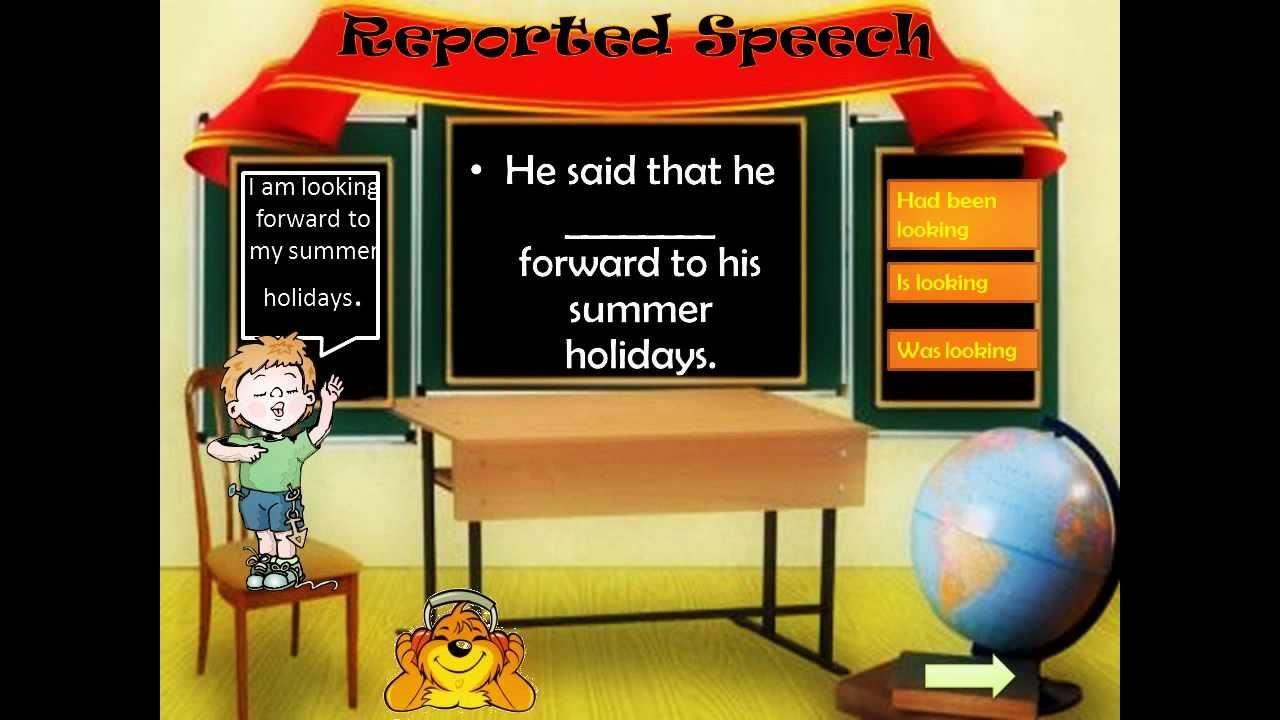 indirect speech to direct speech exercises pdf