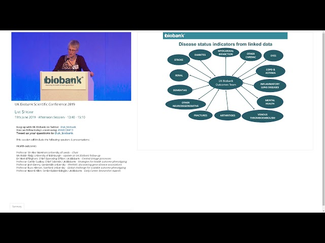 Professor Cathie Sudlow - Strategies for health outcome phenotyping