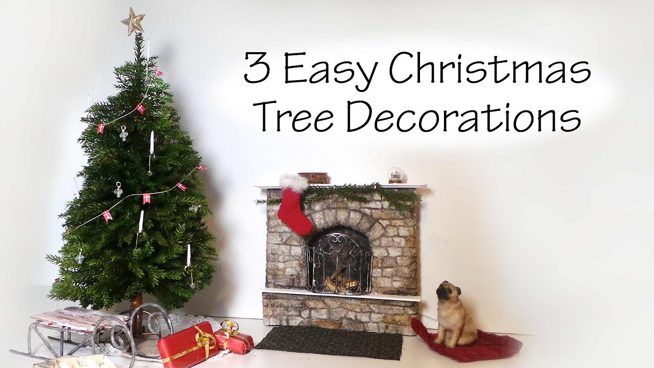 quickeasy miniature christmas tree decoration tutorial youtube - Miniature Christmas Decorations