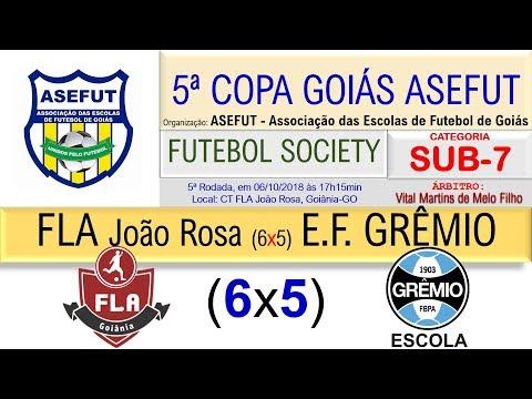 5ª COPA GOIÁS ASEFUT 2018, SOCIETY SUB-7, FLA Goiânia-João Rosa (6x5) E.F. GRÊMIO