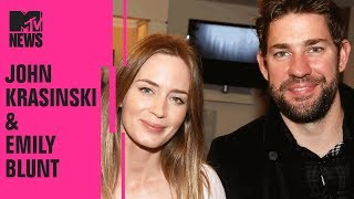 John Krasinski Thinks Emily Blunt Is 'So Smart & Enthusiastic' | MTV News