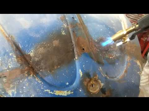 61 Vw hood heat shrink demo
