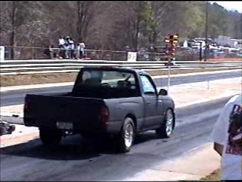 tacoma drag racing with 2rzfe turbo 4cyl engine at Dallas dragstrip