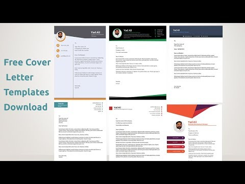 Resume Cover Letter Templates || Cover Letter Examples In Ms Word 2019