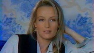Estelle Lefébure Hallyday interview by Nathalie Simon for TF1 in 1995