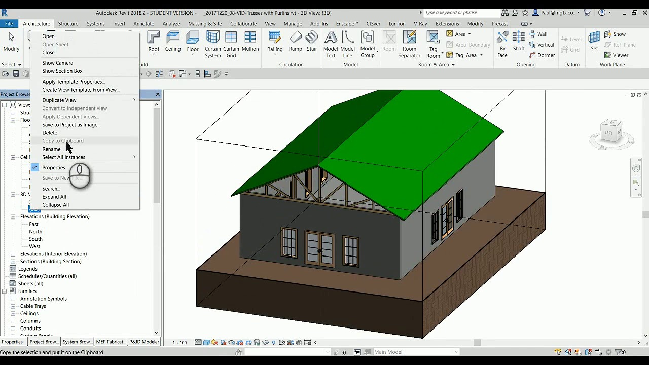 Create Roof Trusses with Purlins in Revit