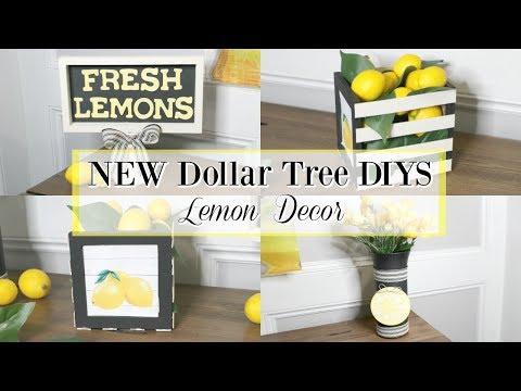DOLLAR TREE DIYS | DOLLAR TREE DIY LEMON DECOR