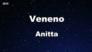 Veneno - Anitta Karaoke 【No Guide Melody】 Instrumental
