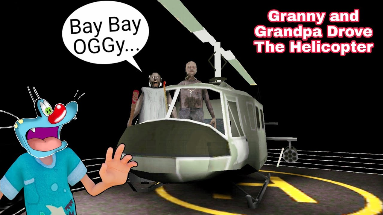 Granny Or Grandpa Ne Chalaya Helicopter | Granny Chapter Two With Oggy and Jack